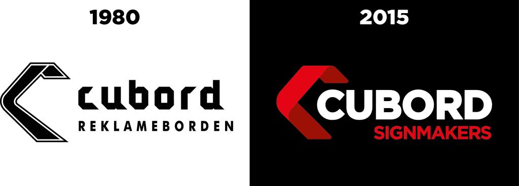 Logos 1980 2015 1024x368 - De nieuwe huisstijl van Cubord